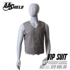 AA Shield VIP Suit Concealable Ballistic Body Armor Vest Lvl IIIA 3A M Gray