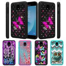 For Samsung Galaxy J3 V 3rd Gen 2018 Star Achieve Dual Layer Hard Diamond Case