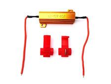 2x Widerstände 12V 50W 8Ω Ohm Lastwiderstand & Kabelklemmen für LED Rückleuchte