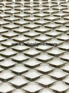 UNIVERSAL CHROME ALUMINUM GRILL MESH SHEET FOR CAR TRUCK BUMPER VENTS MOTORCYCLE