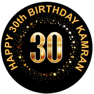 48 Personalised 30th 40th 50th Birthday Party Bag Stickers 40mm Labels