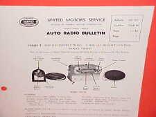 1954 CADILLAC FLEETWOOD 75 LIMOUSINE UNITED MOTORS DELCO GM RADIO SERVICE MANUAL