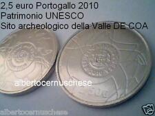 2,5 euro 2010 Portogallo Portugal UNESCO Vale do Coa