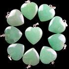 10Pcs Beautiful Mixed Gemstone Heart Pendant Bead XLZ-83