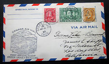 CANADA MAR.16 1933 AIR COVER GREEN LAKE-BEAUVAL SASK. #198 PLUS CONFEDERATIO