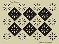 Colonial Prim STENCIL Starburst Diamond Folk Art Country French Floor Cloth Sign