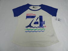 Roxy Girls Coastlines T-Shirts Sz 10 Medium Tee Beige Purple New