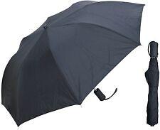 "Lot of 60 - 42"" Collapsible Black Auto-Open Umbrellas - RainStoppers Rain/Sun"