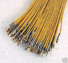 20pc Dupont Connector 2.54mm Female Pin & Wire 24AWG UL CSA RoHS L=45cm Yellow