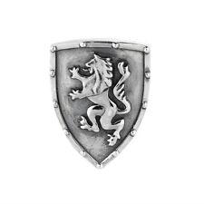 Schild mit Löwe Wappen Charm Rebeligion Silber für Lederarmband Black Rock Large