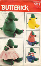 "1980's VTG Butterick Dinosaur&Clothes Pattern 5878 Size 17"" tall"