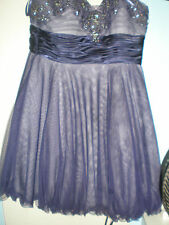 Adrianna Papel Cocktail dress Teen Purple Strapless diamonds setting