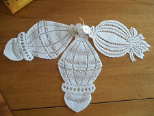 HERITAGE LACE WHITE SET OF 3 LACE CHRISTMAS WINDOW ORNAMENTS NWOT ITEM 2846