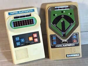 Vintage 1978 MATTEL Electronics Football Baseball Games LOT 2 Handheld TESTED