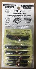 Kelly's Reveille Jr® Pre-Rigged Plastic Scented Worm (panfish) Black Berry Black