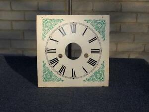 Wood Dial OG Column Shelf Mantle Weight Driven Clock Brass Gromets Brown Smith