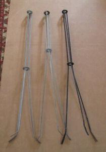 group of 3 vintage lightning rod stand base