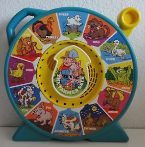 Vintage THE FARMER SAYS SEE 'N SAY 1989 Mattel Works