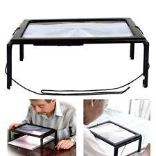 3X Lupa Lente De Aumento Lámpara Lectura Mesa Manos Libres con 4 Luces LED