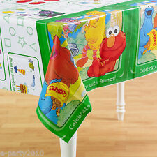 SESAME STREET Sunny Days PLASTIC TABLE COVER ~ 1st Birthday Party Supplies Elmo