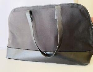 Tumi Black Ballistic Nylon Leather Trim Tote Bag