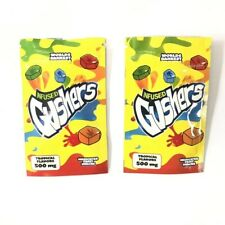 50 Sour Gushers Exotic Mylar Bags 500mg Empty Edible Bags Only