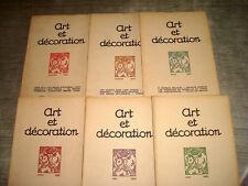 ART & DECORATION 1923 1er Sem. 6/6 ART DECO MAHIAS CHINE ASSELIN DESPIAU