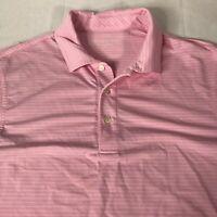 Vineyard Vines golf polo shirt Pink/White/Blue striped ~ mens Size Small
