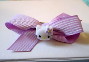 Purple Hello Kitty Barrette~French Clip Hair Accessory