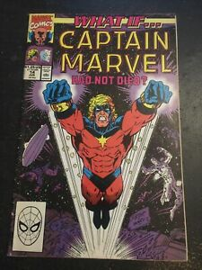 What If#14 Awesome Condition 6.5(1990) Captain Marvel Lived,Ron Lim Cover