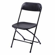 5pcs Portable Commercial Plastic Folding Chairs Stackable Wedding Party Black