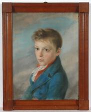 """Daniel Ferdinand Caffe-Attrib. """"Portrait of a noble boy"""",high quality pastel,"""