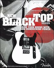 The Fender Black Top Series Telecaster electric guitar ad 8 x 11 advertisement