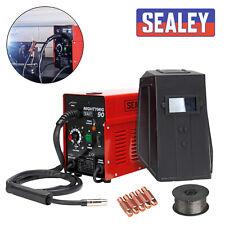 SEALEY 90Amp No Gas / Gasless Mighty Mig Welder + Flux Wire & Tip MIGHTYMIG90