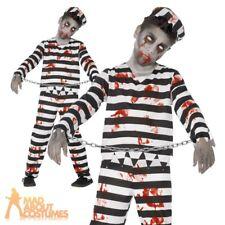 Boys Zombie Convict Halloween Fancy Dress Costume 01- 44326 Medium