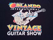 Orlando International Vintage Guitar Show Retro Black T-Shirt Screen Stars XL
