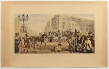 Vintage LITHOGRAPH Elephant and Castle Newington 1826 LONDON ENGLAND H. #491