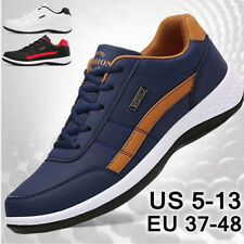 New Men's Fashion Leather Casual Sneakers Sports Running Shoes Plus Size 40-47