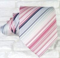 Cravatta uomo seta Regimetal Rosa e grigio Made in Italy business / matrimoni