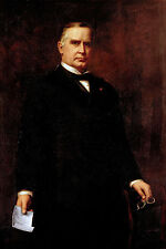 US President William McKinley Portrait Painting Large Real Canvas Art Print New