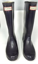 Hunter tall rubber Womens rain boots size 4m 5f purple garden boot