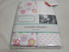 Sumersault BONITO BEBE 2-Muslin Swaddles - Pink Lavender -Dot/Butterfly & Flower