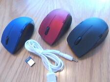 Wireless 3D Optical Mouse  Kabellos Aufladbar keine Batterien notwendig