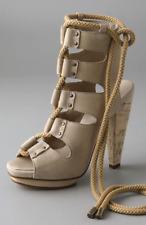 DEREK LAM Lace Up Leather Sandals Size 40 US 10 $790