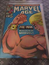 Marvel Age Comic Book #38 1st Appearance He Man Cover MOTU 1986 Magazine