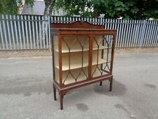 More details for wonderful mahogany chippendale style 1930's curio display cabinet