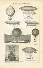 Aeronave DA TAVOLA/palloncino/montgolfière/MONGOLFIERA ORIGINALE-legno chiave 1894