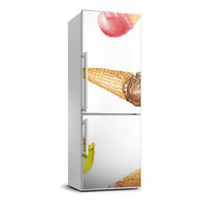 3D  Fridge Self Adhesive Removable Sticker Food Ice cream in a wafer