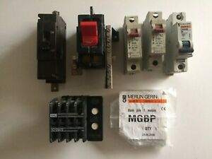 Crabtree C50 MCB 60 Amp Circuit Breaker & Various Others All Untested