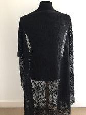Black Clipped Chiffon Devore Design Dressmaking Fabric